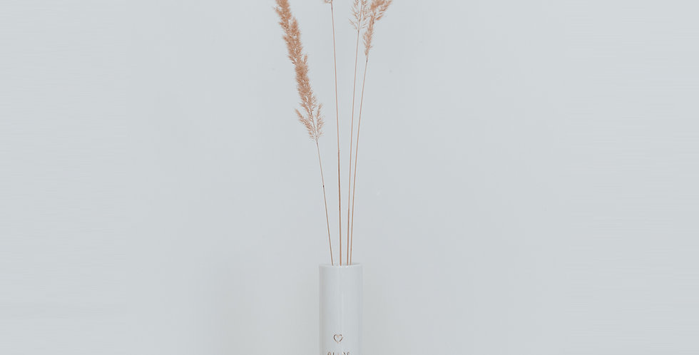 Eulenschnitt - Vase Alles Liebe
