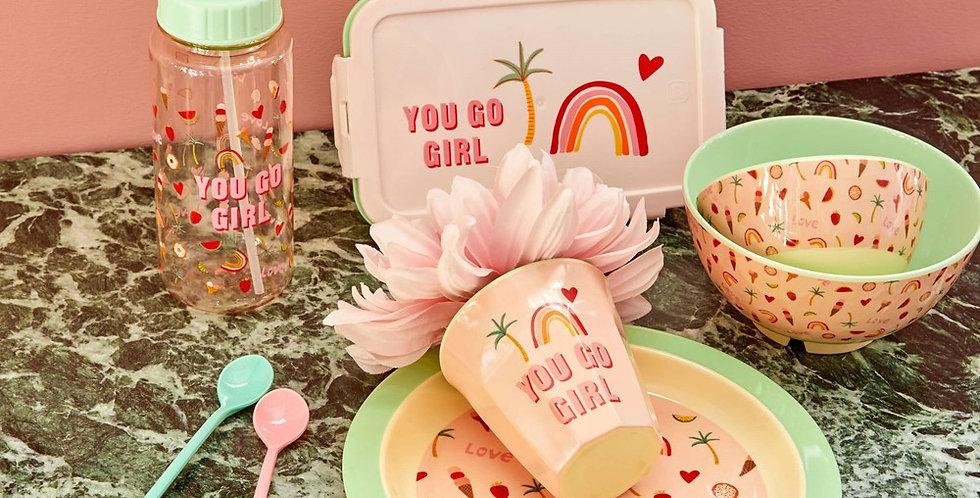 "RICE Brotdose Lunchbox ""You Go Girl"""