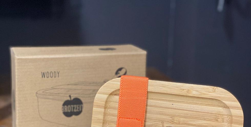 Brotzeit - Lunchbox aus Edelstahl mit Bambusdeckel
