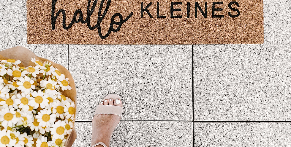 Eulenschnitt - Kokos Fußmatte Hallo Kleines