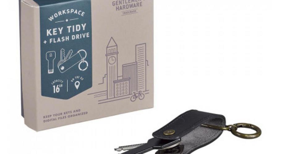 Gentlemen's Hardware - Schlüsselorganisator mit USB-Stick