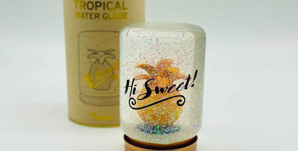 Tropische Schneekugel - Ananas