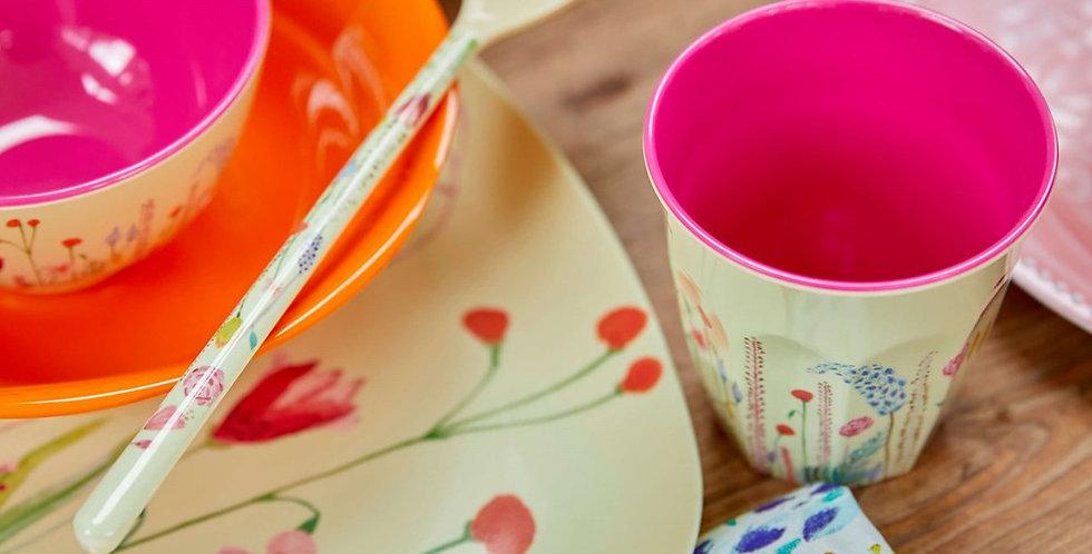 Rice - Melamin Becher Flower Print