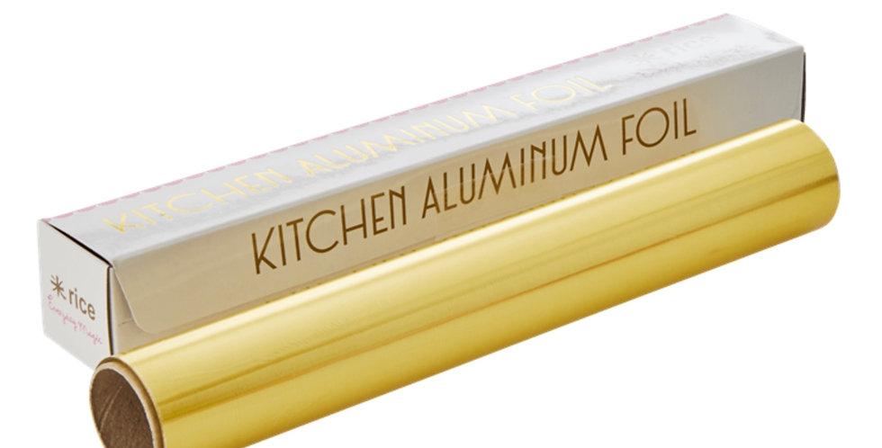 RICE - Aluminiumfolie Gold