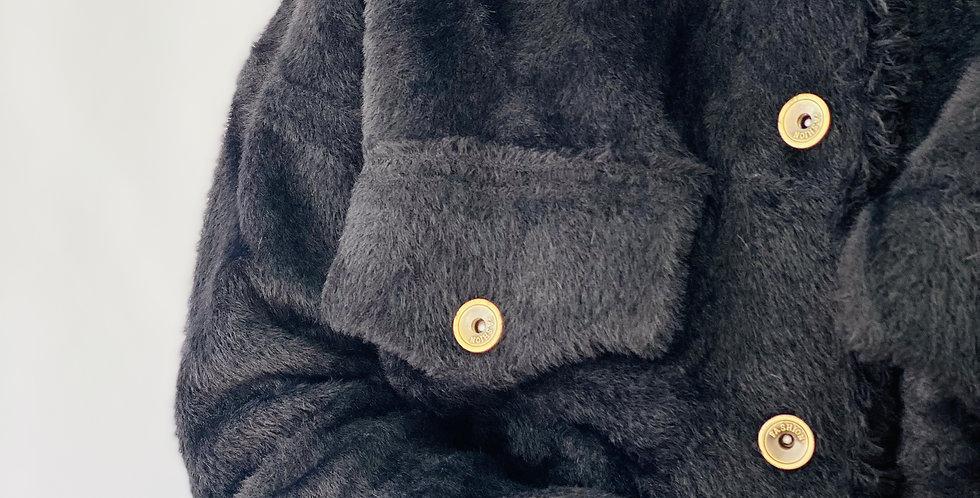 Haarige Jacke Reverskragen Molly Bracken