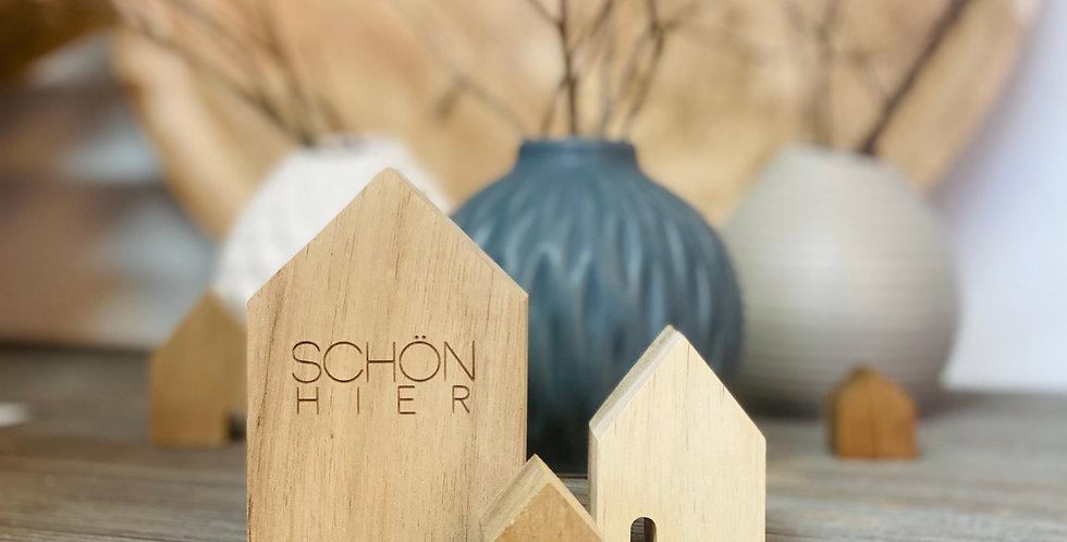 Räder - Holzhäuser - Set