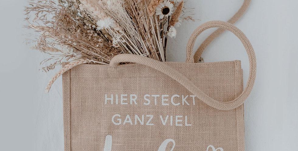 Eulenschnitt - Jute Shopper Liebe