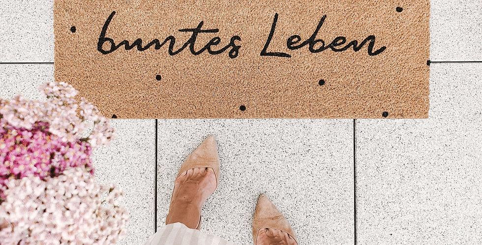 Eulenschnitt - Kokos Fußmatte Buntes Leben