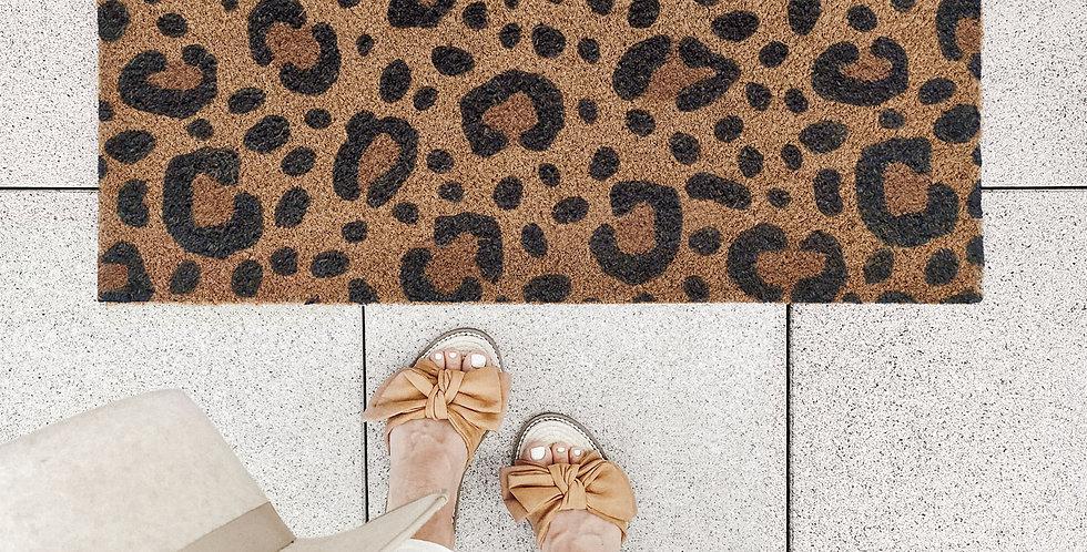 Eulenschnitt -  Kokos Fußmatte Leo
