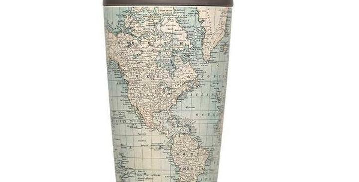 Bioloco Kaffebecher - Antique Map
