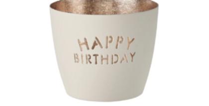 Gift Company - Windlicht Happy Birthday
