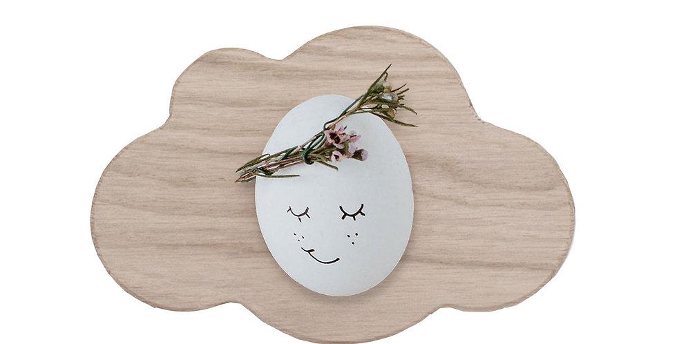 Eulenschnitt - Eierbecher Wolke