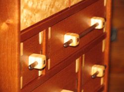 Finished Drawer Fronts in the Case.JPG