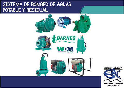 SISTEMA DE BOMBEO DE AGUAS POTABLE Y RES