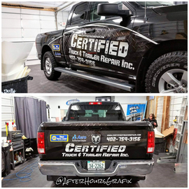 Truck Wrap for Certified Truck and Trailer Repair