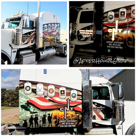 Semi Cab Wrap for Central Nebraska Transload