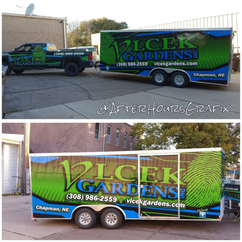 Truck and Trailer Wrap for Vlcek Gardens