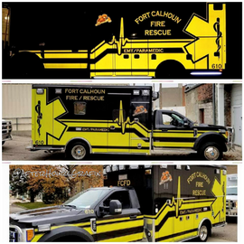 Ambulance Wrap for Fort Calhoun