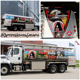 Fuel Truck Wrap for Aurora Coop