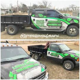 Service Truck Wrap for Landscaping Solutions