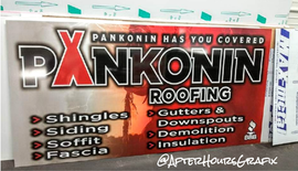 Storefront Sign for Pankonin Roofing