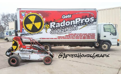 Box Truck Wrap and Wingless Sprint Car Wrap for Getz Radon Pros