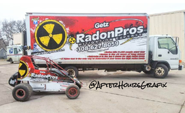 Box Truck Wrap and Wingless Sprint Car Wrap for Getz Radon Pros