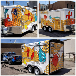 Trailer Wrap for Hastings College Art Dept (designed by a student)