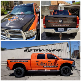 Truck Wrap for Compass Roofing