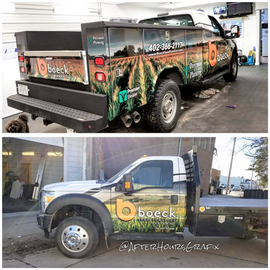 Service Truck Wrap for Boeck Seed