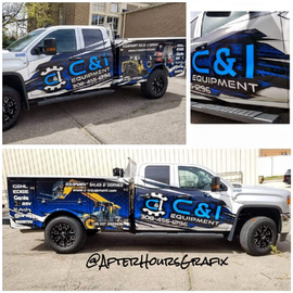 Service Truck Wrap for C & I Equipment