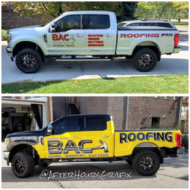 Truck Wrap for BAC Roofing