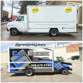 Box Truck Wrap for Cacy Electric