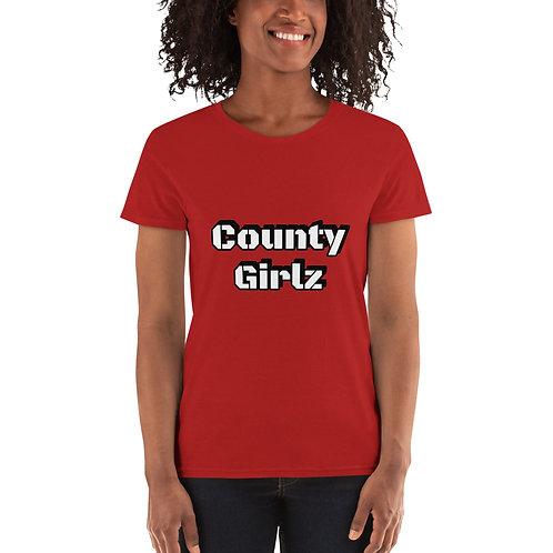 County Girlz Crew Neck Tee   Gildan 5000L