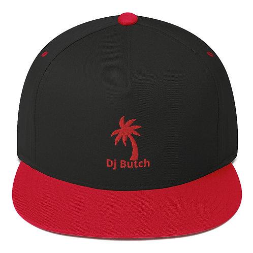 Red & Black Flat Bill Cap