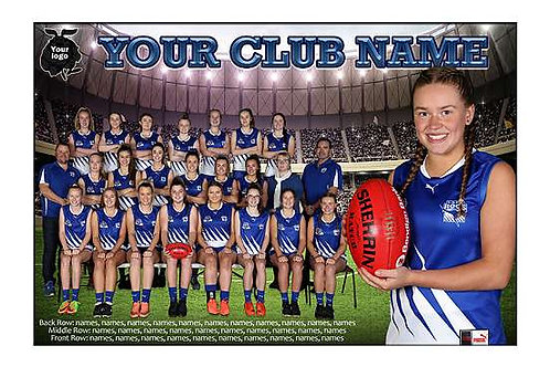 East Burwood Junr Football Club Team Photo With Individual Player Portrait