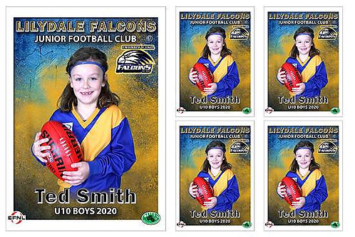 Lilydale Falcons Football Club Player Portrait – 5 in 1 Pack