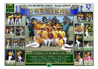 FTGCDA U16 Jim Beitzel GF Poster in bord