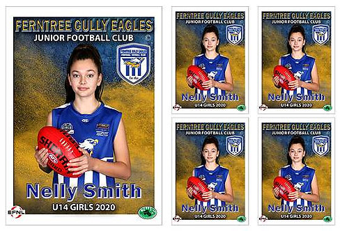 Ferntree Gully Football Club Player Portrait – 5 in 1 Pack