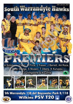 A2 PREMIER POSTER PERSONALISED CRICKET S