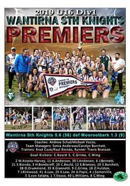 Wantirna Sth Knights U16 div 1 GF Poster