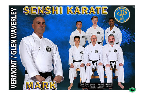 Karate Team Photo With Individual Member Portrait