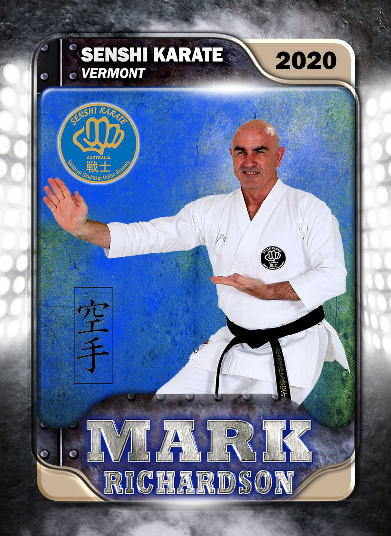 Karate Member Card Front Mark Richardson