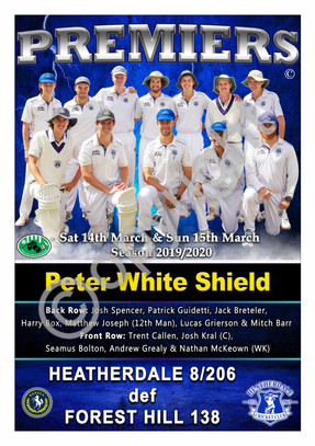 BHRDCA Peter White Shield A2 PREMIER POS