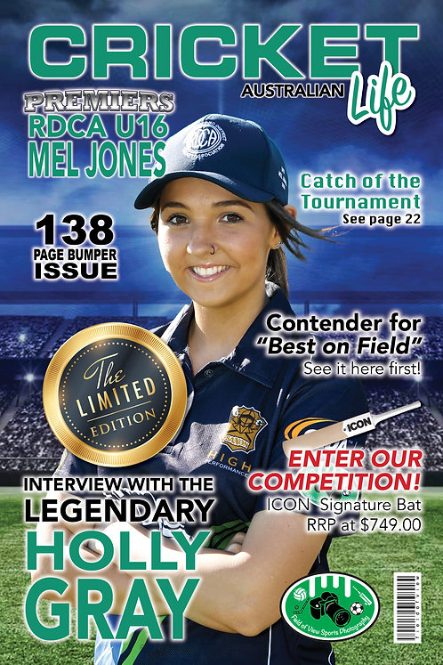Cricket Magazine Cover Player Print