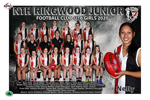 North Ringwood Football Club Team Photo With Individual Player Portrait