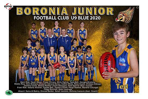 Boronia Hawks Football Club Team Photo With Individual Player Portrait