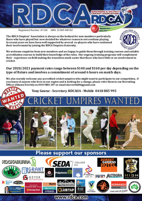 Umpires wanted