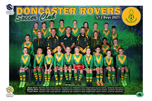 Doncaster Rovers Soccer Club Team Photo