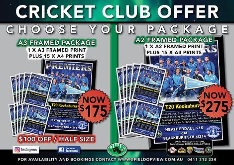Cricket A3/A2 Framed Club Offer
